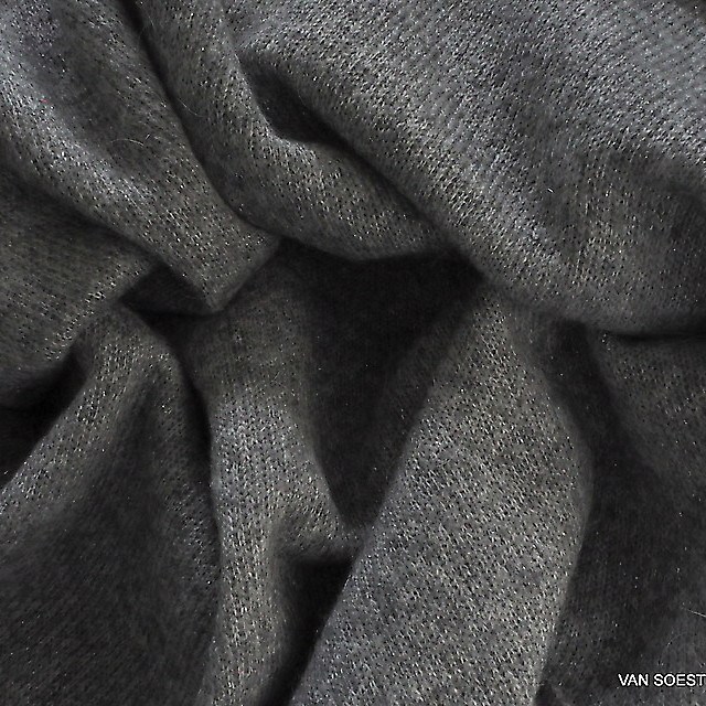 Burda style knit fabric with glitter in silver grey