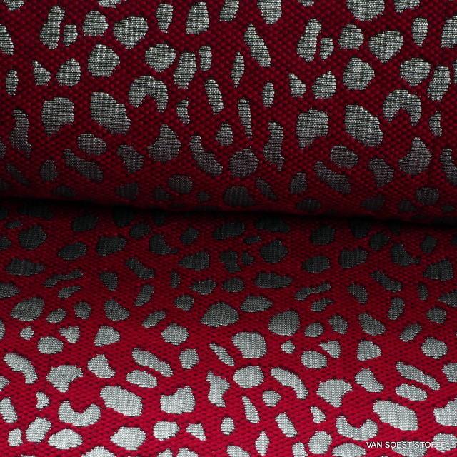 Burda style Tierfell Optik Clocqué in Burgund - Silber | Ansicht: Burda style Tierfell Optik Clocqué in Burgund - Silber