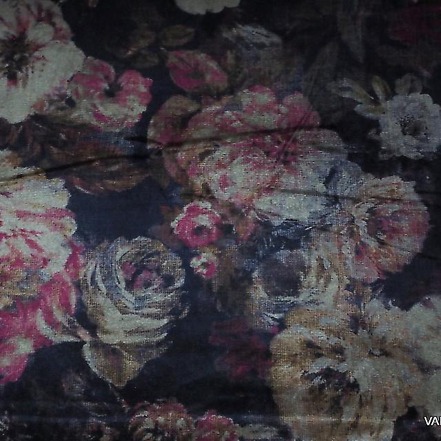 Burda style Velvet Ink print Blumen Muster