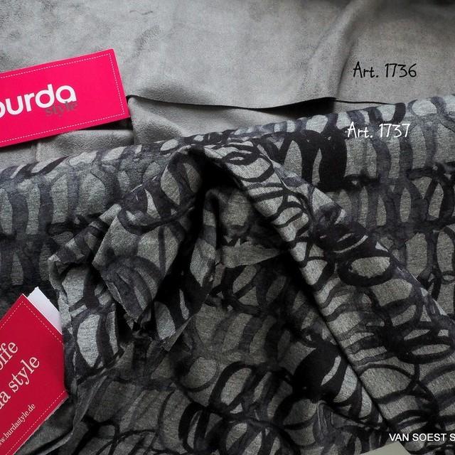 Burda style Vicky super feine Viskose Elasthan Jersey in Anthra-Grau-Schwarz | Ansicht: Burda style Vicky super feine Viskose Elasthan Jersey in Anthra-Grau-Schwarz