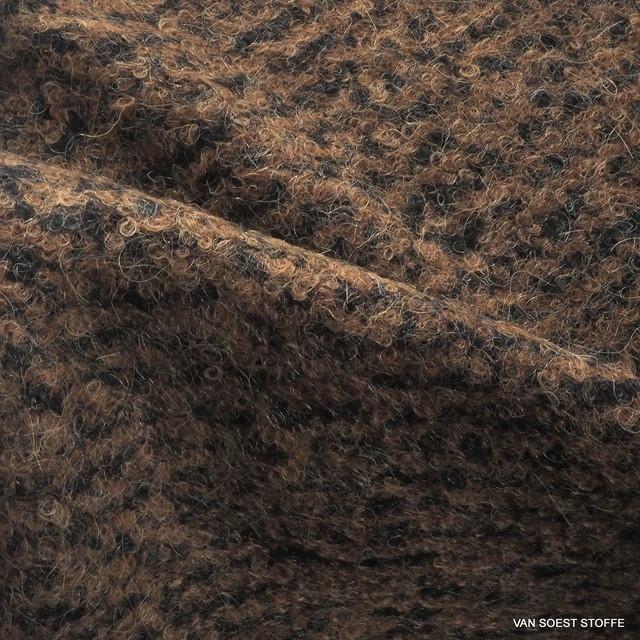 Burda style Woll Bouclé in dunkelbrauner melange Optik | Ansicht: Burda style Woll Bouclé in dunkelbrauner melange Optik