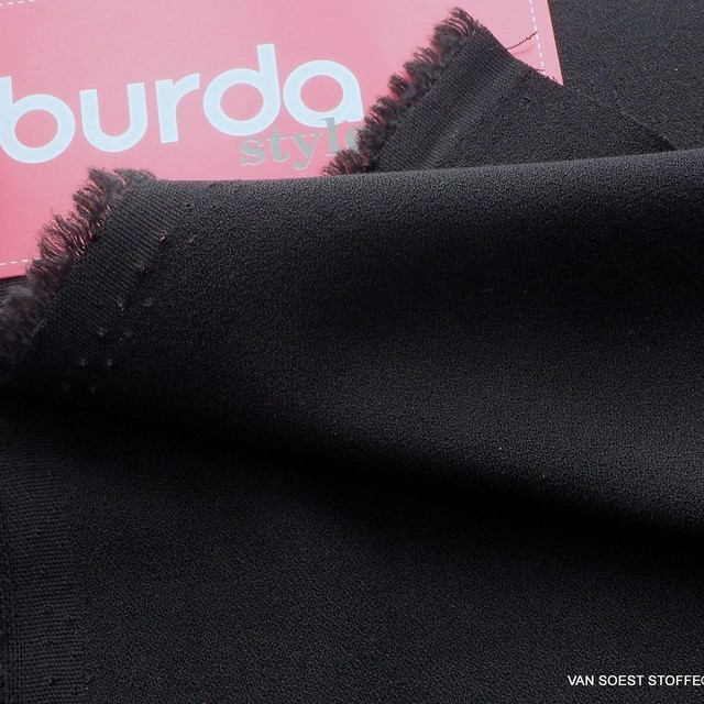 Burda style soft crepe in deep black