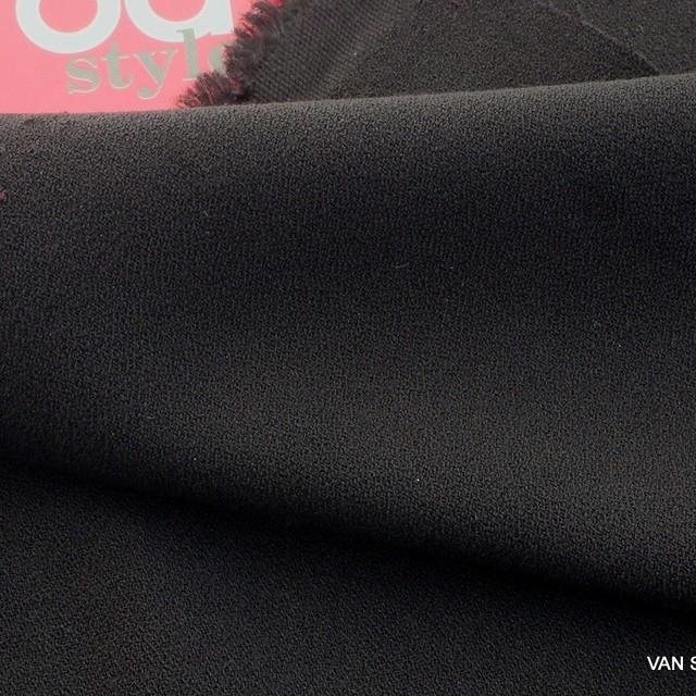 Burda style soft crepe in deep black | View: Burda style soft crepe in deep black