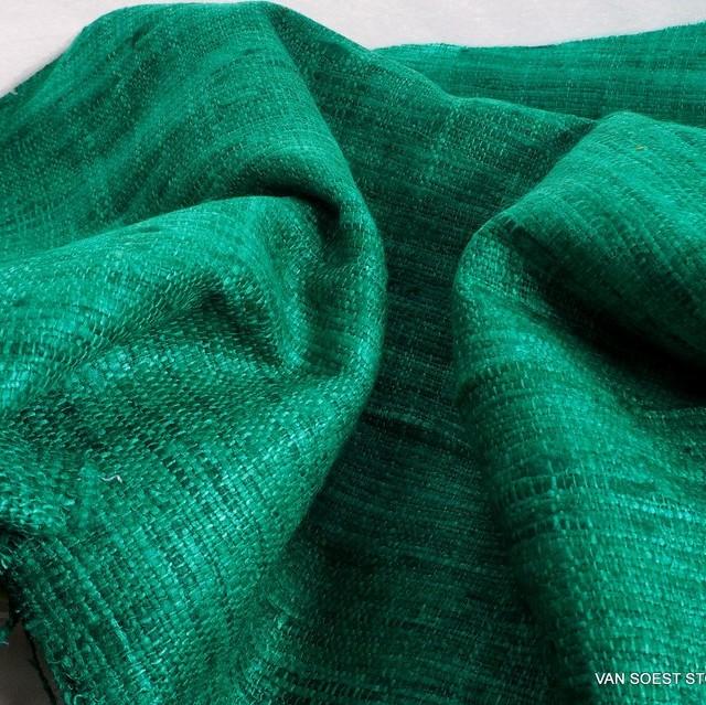 Burda style softer Shantung Seiden Bouclé in Jade Grün | Ansicht: Burda style softer Shantung Seiden Bouclé in Jade Grün
