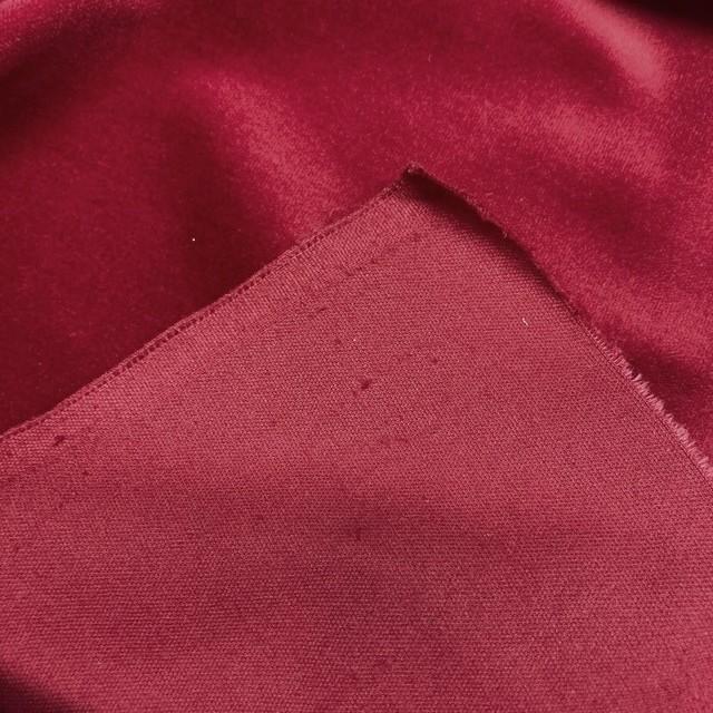 Cotton Stretch Velvet Fb. Burgund