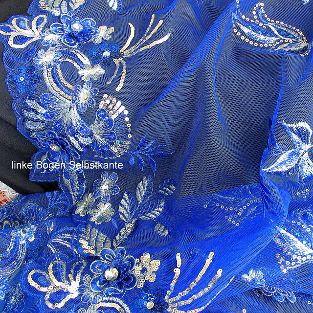 Strass-Couture Stickerei in Royal Bleu | Ansicht: SWAROVSKI COUTURE STICKEREI in Royal Bleu