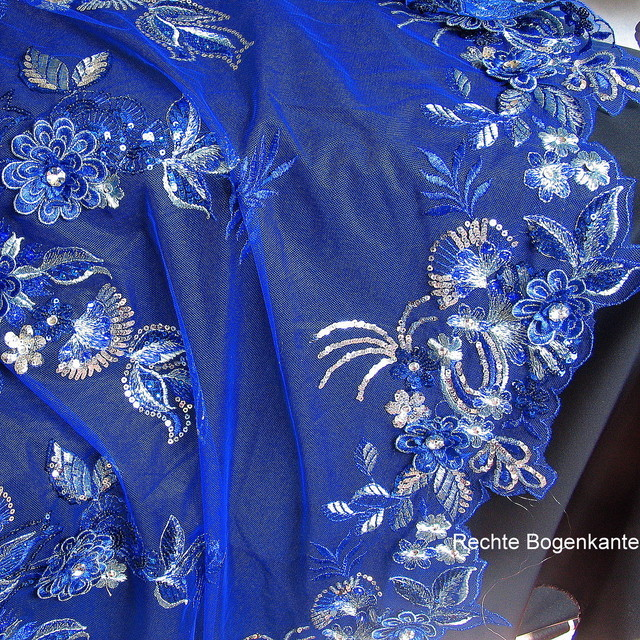 Rhinestone couture embroidery in Royal Bleu | View: COUTURE EMBROIDERY in Royal Bleu
