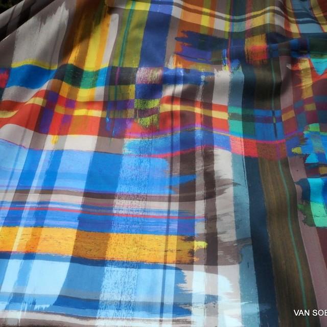 C.Pauli Grafik Design Farbdruck auf GOTS 100% Bio Soft Popeline | Ansicht: C.Pauli Grafik Design Farbdruck auf GOTS 100% Bio Soft Popeline