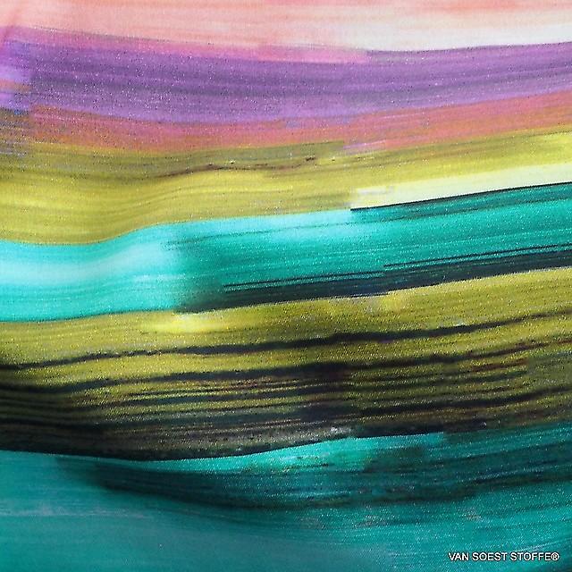 C.Pauli Sunset Farb Bogen Druck auf GOTS Bio Soft Popeline | Ansicht: C.Pauli Sunset Farb Bogen Druck auf GOTS Bio Soft Popeline