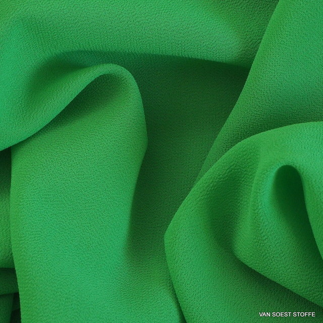 Crepe Chiffon in new Green = Bosco