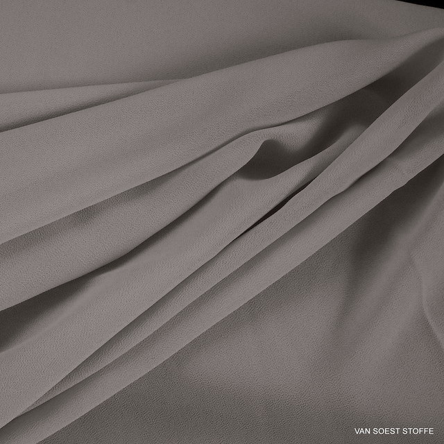 Crepe Chiffon in neuem Grau Ton = Sabbia