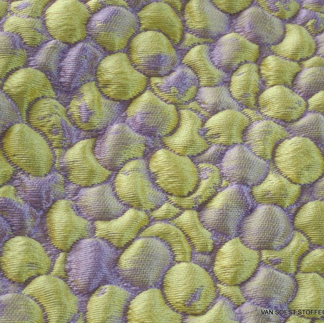 Couture 3D Jacquard in Lavendel-Zitrone | Ansicht: Couture 3D Jacquard in Lavendel-Zitrone
