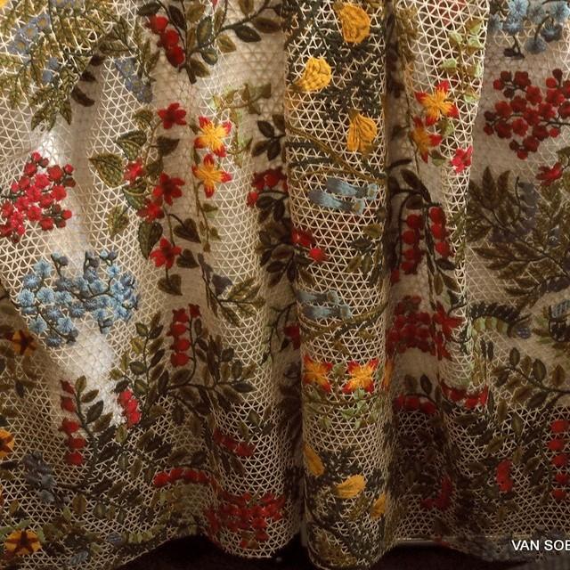Couture Bordüre auf Netz Gewebe | Ansicht: Designer top Couture Bordüren Stoff auf Netz Gewebe