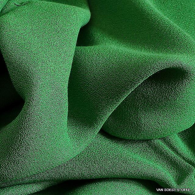 Cupro - Rayon Crepe de Chine in Grassgrün