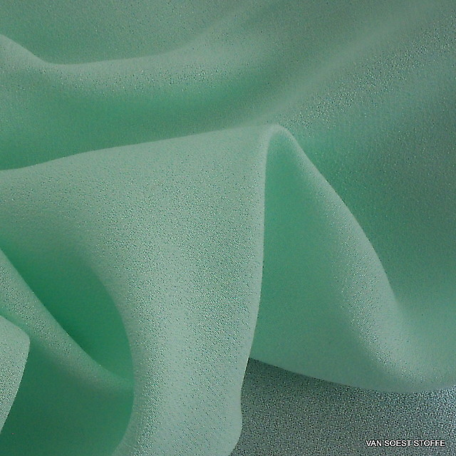 Cupro - Rayon Crepe de Chine in Lind-Bleu(Lime)   Ansicht: Cupro - Rayon Crepe de Chine in Lind-Bleu(Lime)