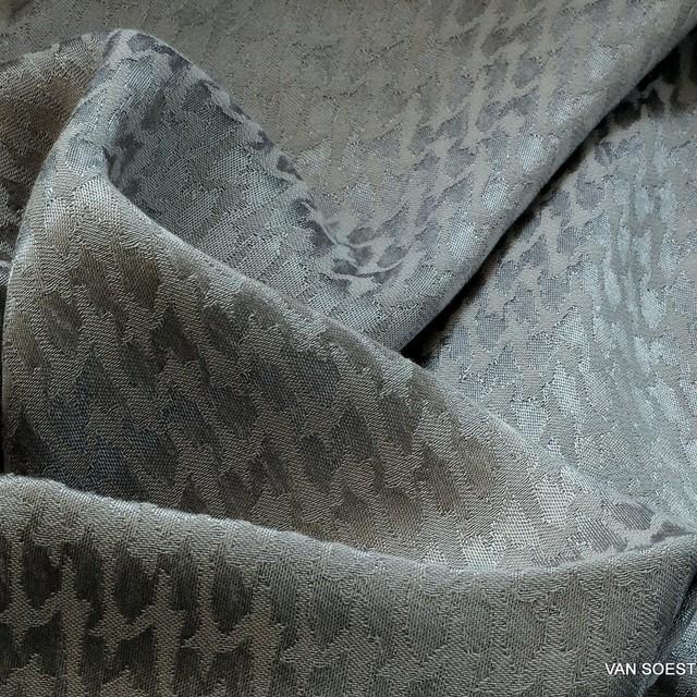 Cupro® - Rayon Hahnentritt in Silbergrau | Ansicht: Cupro® - Rayon Hahnentritt in Silbergrau