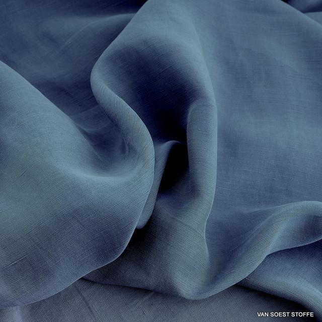 Cupro Tencel ™ Leinen in Taubenblau