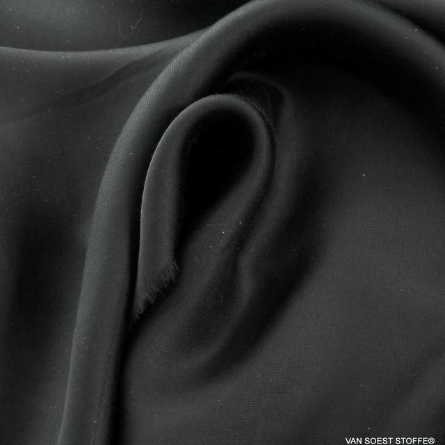 Cupro-Tencel™ Satin in tief Schwarz