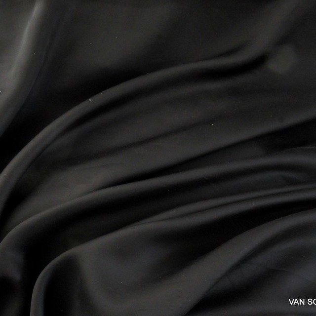 Cupro-Tencel™ Satin in tief Schwarz | Ansicht: Cupro-Tencel™ Satin in tief Schwarz