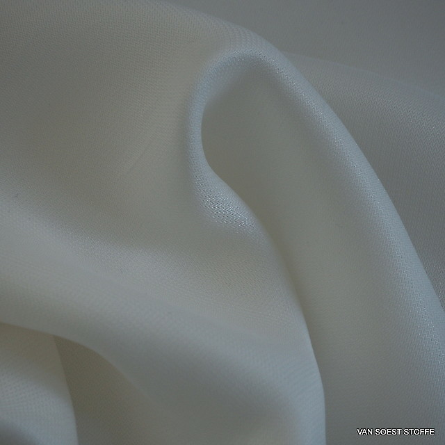 Cupro Viskose Soft Mikro Fischgrat in Weiß