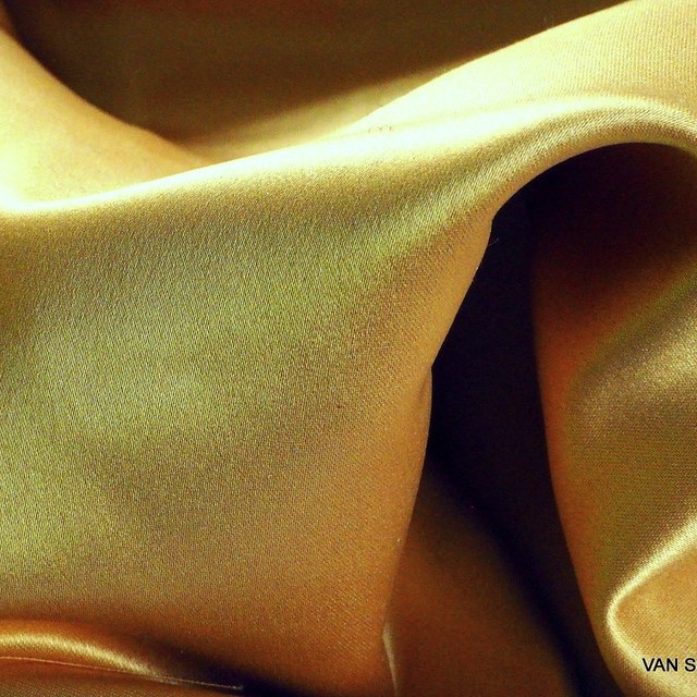 Dark-gold colored vintage luxury satin | View: Dark-gold colored vintage luxury satin