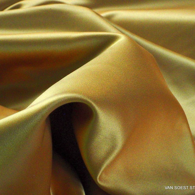 Dark-gold colored vintage luxury satin