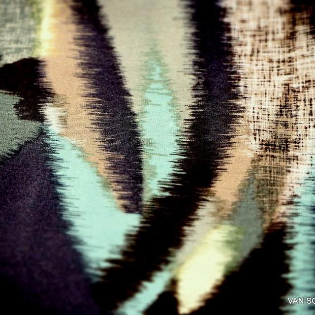 Exklusiv bedruckter Stretch Musselin Jersey