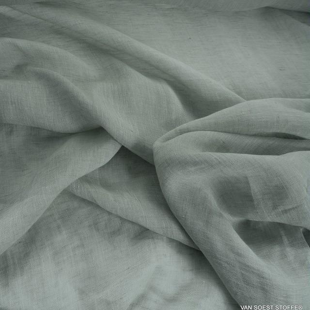 Exklusiver Leinenstoff in zartem Pastell Lindgrün | Ansicht: 2082 - Exklusiver Leinenstoff in zartem Pastell Lindgrün