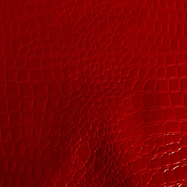 Exklusives Schlangenlackleder Imitat in Rot - Abseite Beige Velourimitat | Ansicht: Exklusives Schlangenlackleder Imitat in Rot - Abseite Beige Velourimitat