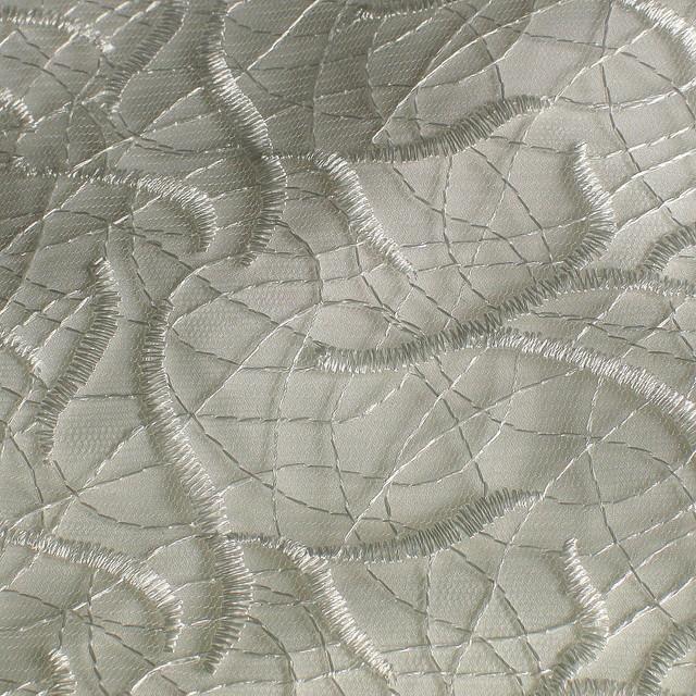 Fantasie Spitze mit Draht Untergrund auf Tüll in Weiß / Weiß | Ansicht: Fantasie Spitze mit Draht Untergrund auf Tüll in Weiß/Weiß