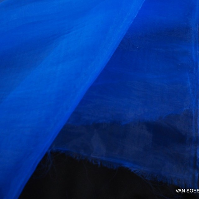 Fester Organza in Royal Blue | Ansicht: Fester Organza in Royal Blue