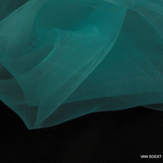 Fester Organza in hell Sky Blue | Ansicht: Fester Organza in hell Sky Blue