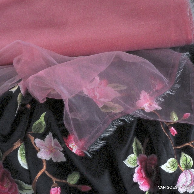 Fester Organza in hellem Pink | Ansicht: Fester Organza in hellem Pink