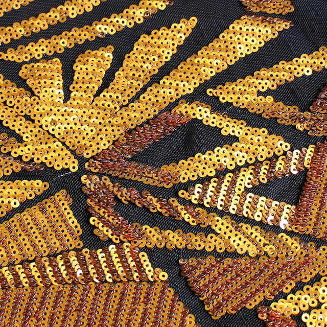 Geometrica Fantastica Dunkel Gold-Kupfer | Ansicht: Geometrica Fantastica Dunkel Gold-Kupfer Pailletten