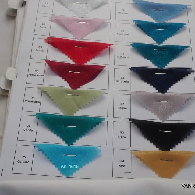 Glitter Chiffon in hellem Türkis | Ansicht: Mögliche Farben