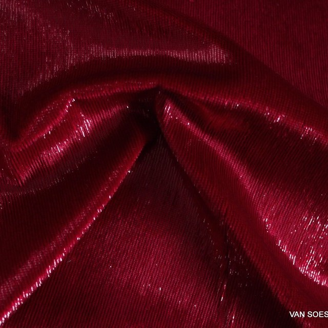 Glitter designer velvet in dark red