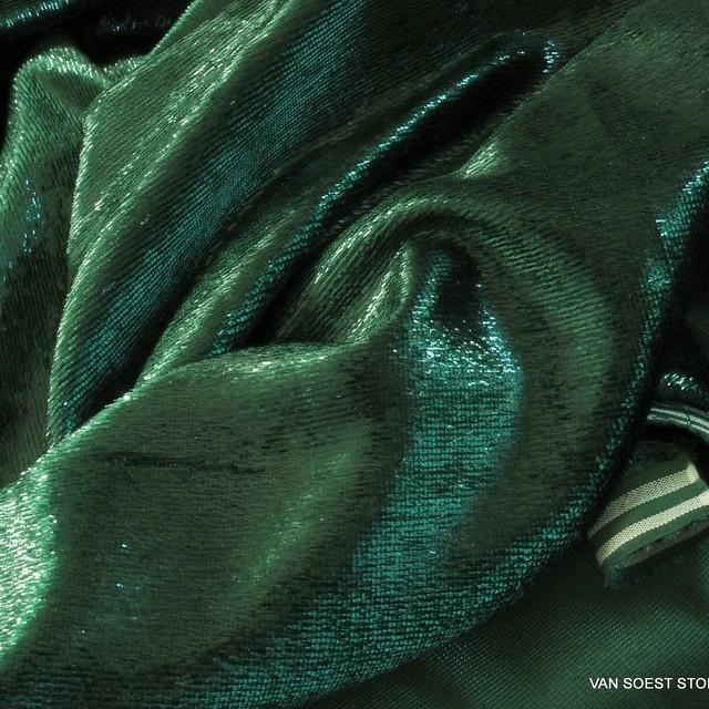 Glitter designer velvet in dark green | View: Glitter designer velvet in dark green