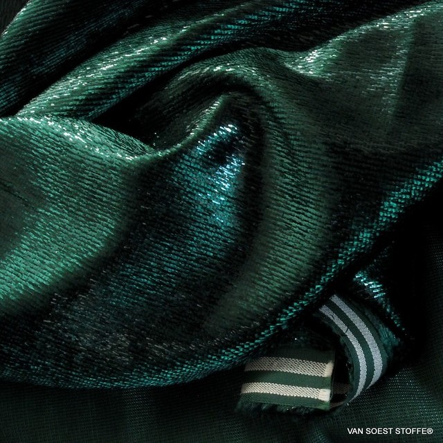 Glitter designer velvet in dark green