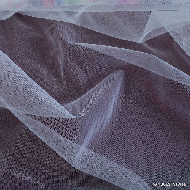 Glitter Stretch Tüll in Farbe Schneeweiß | Ansicht: Glitter Stretch Tüll in Farbe Schneeweiß