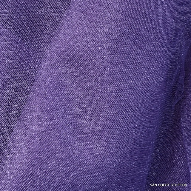 Glitter Tulle in dark purple - magenta | View: Tulle in purple