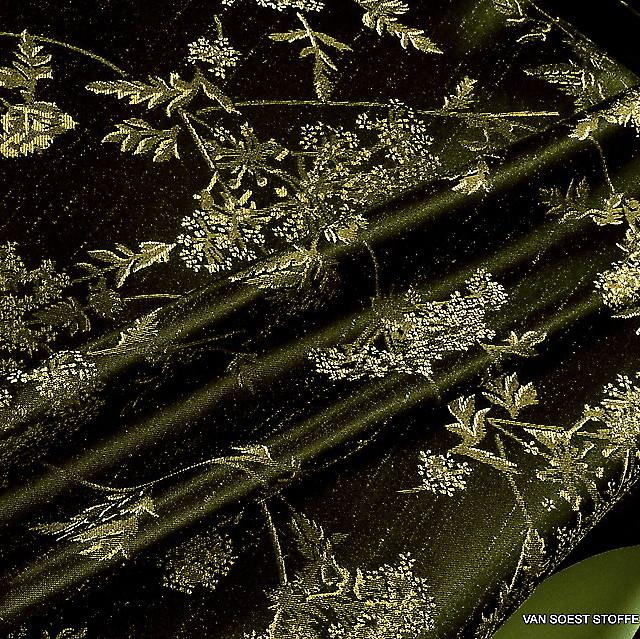 Gold Jacquard Doppelgewebe auf Shantung Grund | Ansicht: Gold Jacquard Doppelgewebe auf Shantung Grund