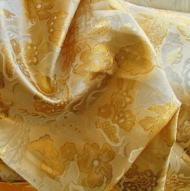 Gold Metallic Jacquard