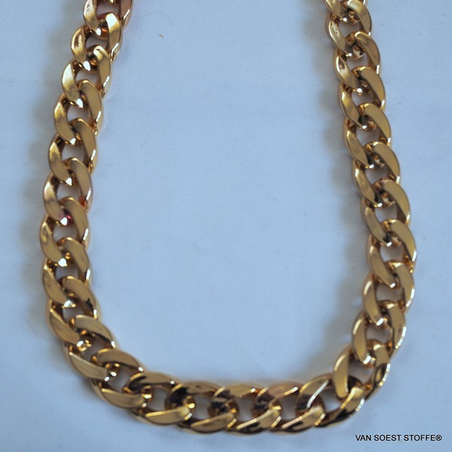 Gold chain 1.7 cm. - Width
