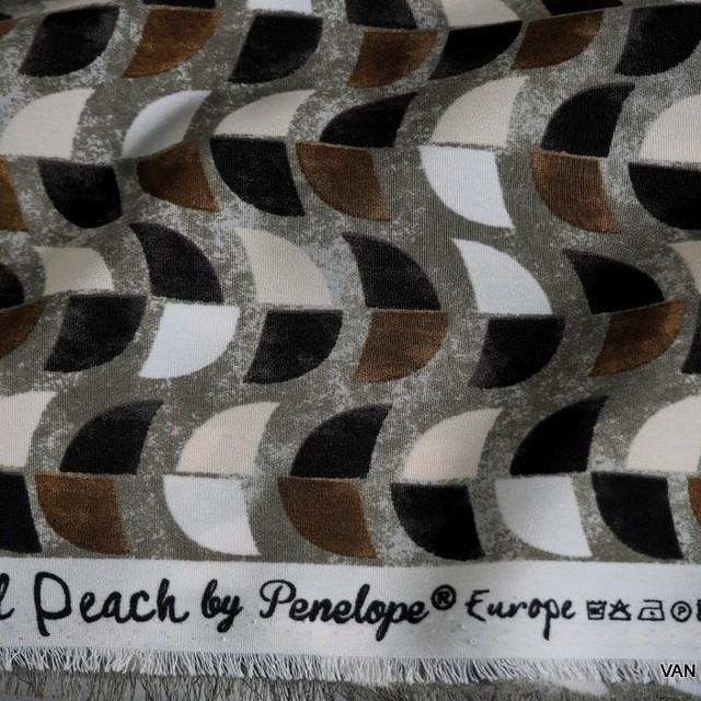 Grafik Druck  auf Pearl Peach skin in Schwarz-Weiß-Schoko | Ansicht: Grafik Druck auf Pearl Peach skin in Schwarz -Weiß