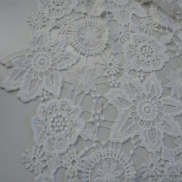 Guipure Spitze in Weiß