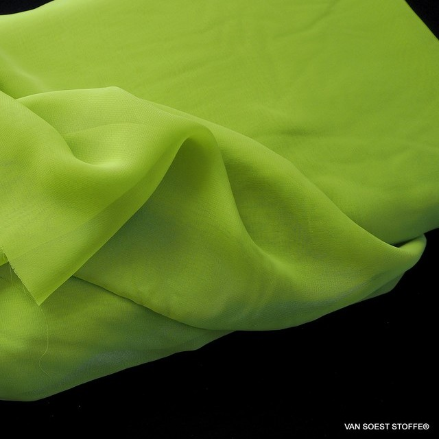 Very fine sylvia chiffon in lime