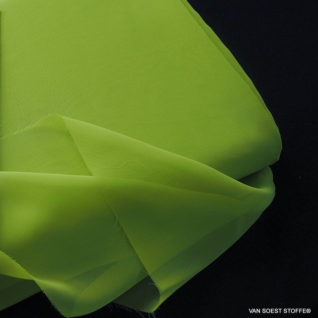 Very fine sylvia chiffon in lime | View: Very fine sylvia chiffon in lime