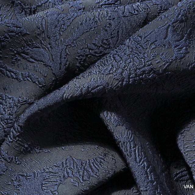 3D-Haute Couture Doppel Jacquard in dunkel Navy | Ansicht: 3D-Haute Couture Doppel Jacquard in dunkel Navy