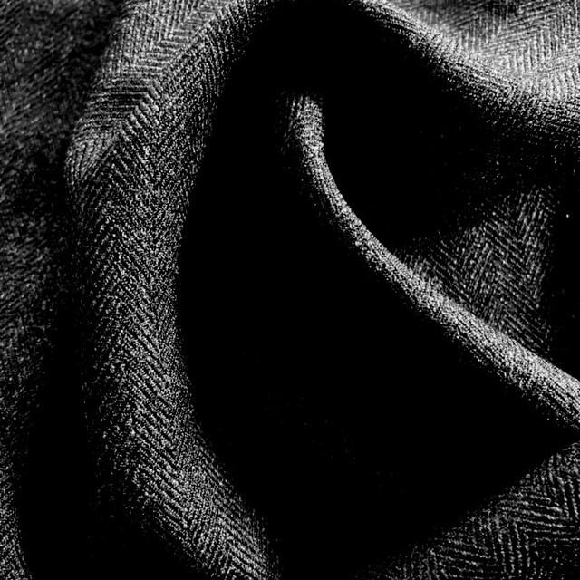 Herringbone Leichtflanell super soft & querelastisch in Anthra-Melange | Ansicht: Herringbone Leichtflanell super soft & querelastisch in Anthra-Melange