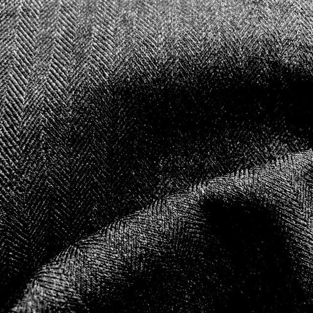 Herringbone Leichtflanell super soft & querelastisch in Anthra-Melange